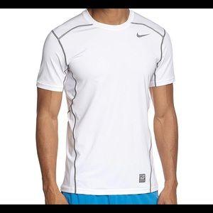 Nike men's white hypercool short sleeve